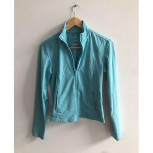 Adidas Womens Clima365 Teal Zip up Running Jacket